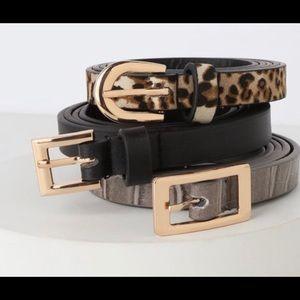 SALE🌸🌸🌸 NWT 3 pk Lulus Belts all Sz MM/L